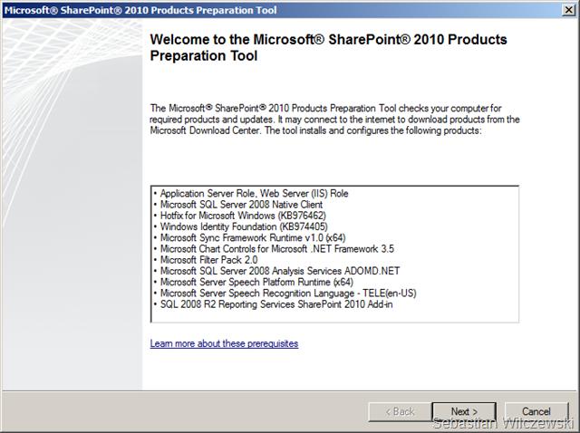 Instalacja Project Server 2010 – Krok po kroku (2/6)
